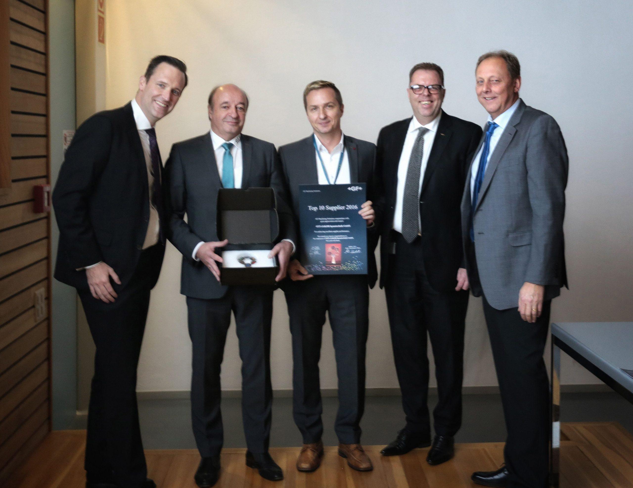 OTT-JAKOB - Unternehmen - Bild - Lieferanten-Auszeichnung für OTT-JAKOB